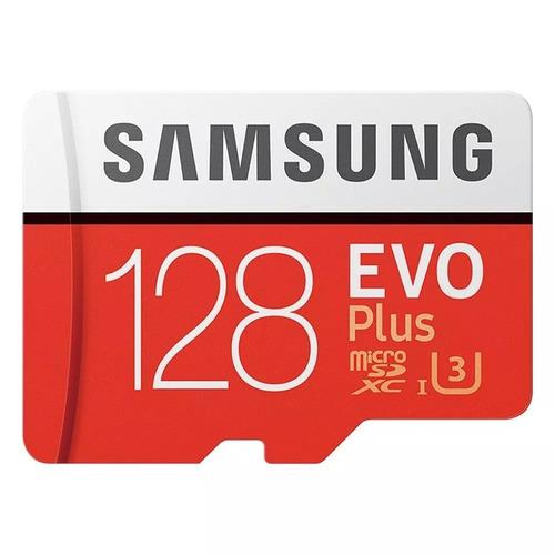 cartão samsung micro sd evo plus 128gb 100mb/s u3 lacrado
