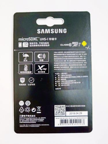 cartão samsung micro sd evo plus 256gb u3 4k embal. original