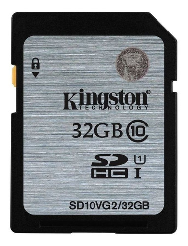 cartão sdhc kingston classe 10 32gb sd10vg2/32gb uhs-i origi
