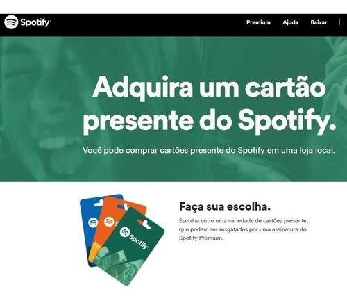 cartão spotify r$ 17 reais - assinatura - imediato !