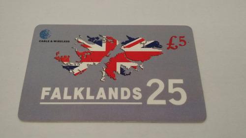 cartão telefônico guerra das falklands 25 anos