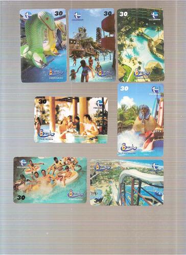 cartão telefônico série cartões