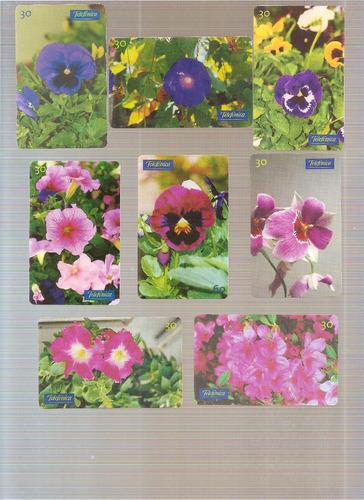 cartão telefônico - série flores - 38 cartões