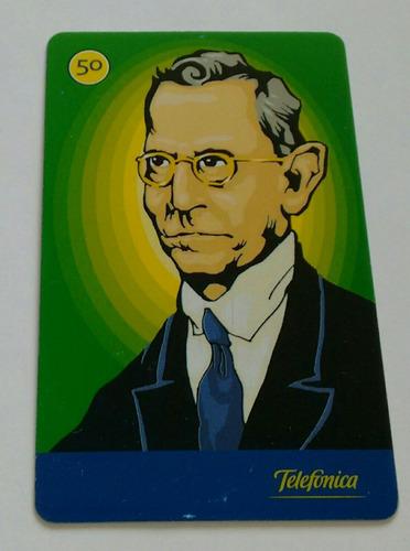 cartão telefônico série presidentes brasileiros.