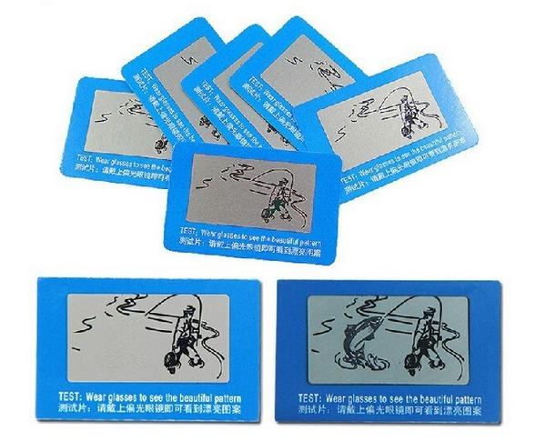 0d48b5c71 Cartão Teste De Lentes Polarizadas De Óculos Polarizado - R$ 11,90 ...