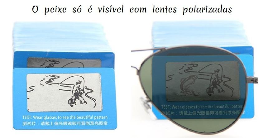 fe1aaa336 cartão teste lente polarizada óculos - pacote 2 unidades. Carregando zoom.