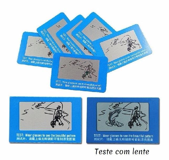 d46d75f11c9f9 Cartão Teste Para Determinar Lentes De Óculos Polarizados - R  21