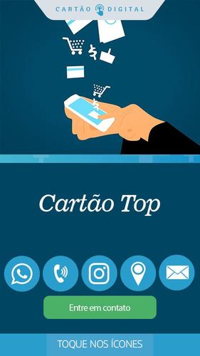 cartão top - cartão de visita interativo