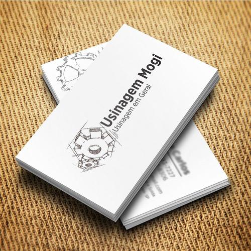 cartão visita couchê 250 unid 4x4 arte grátis personalizada