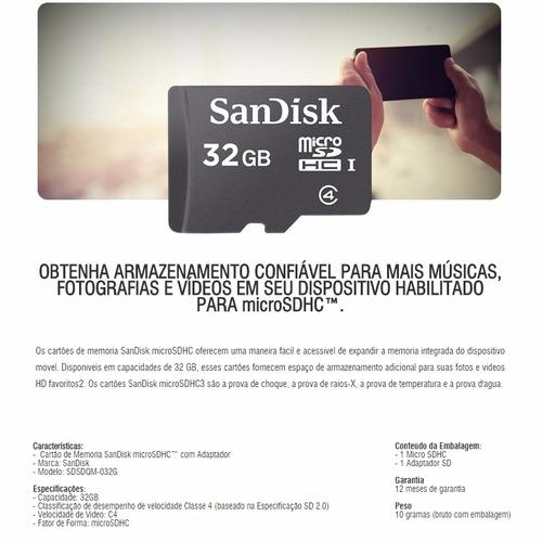 cartões de memória sandisk e kingston 32 gb, 100% originais!