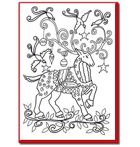 cartões de natal para colorir por adultos e crianças qtd r 137