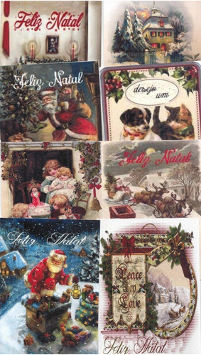 cartões de natal vintage c/50 unid. +50 env. em pap. foto m2