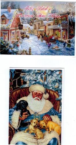 cartões de natal vintage c/50 unid. +50 env. - modelo 01