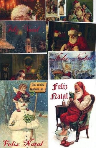 cartões de natal vintage c/50 unid. +50 env. - modelo 03