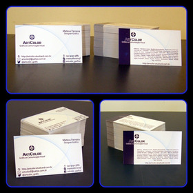 Cartões De Visita 4x0 Cores Couché 300g - 250 Unidades