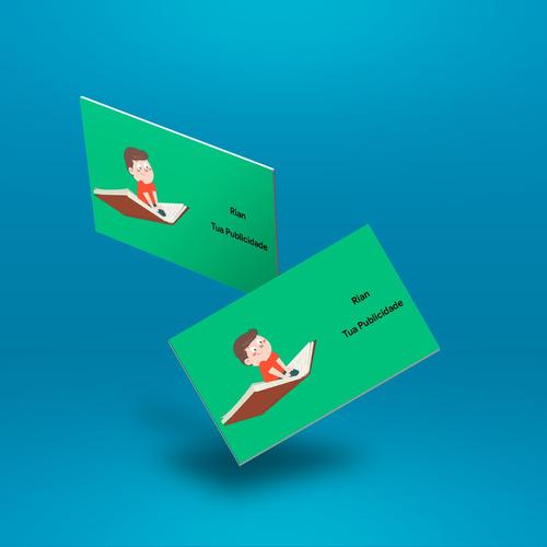 cartões de visita, banners, panfletos e serviços gráficos
