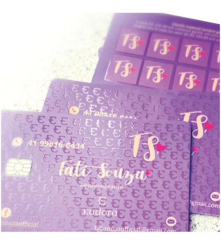 cartões de visita com chip