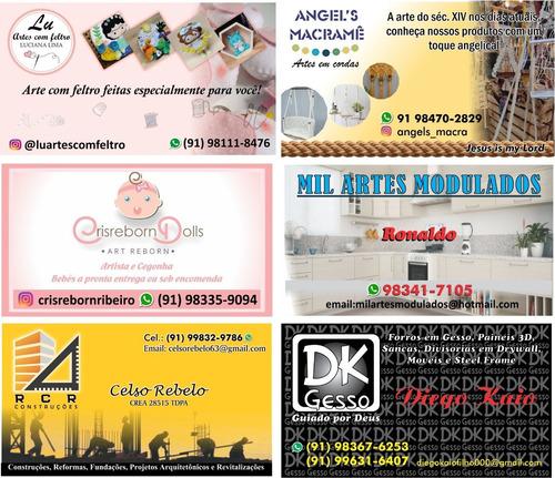 cartões de visita com criação de layout