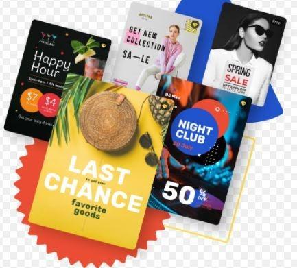 cartões de visita, panfletos, flyers e folhetos e outros