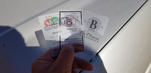 cartões de visita transparentes ou pvc branco! top de linha!