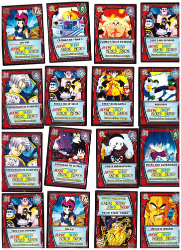cartões dragon ball z- card game