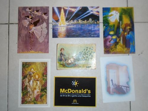 cartões postais e lembrança (lote com 34 cartões)