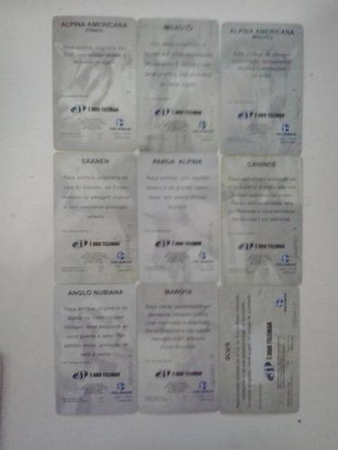 cartões telefônicos- serie caprinos no ceará - frete grátis