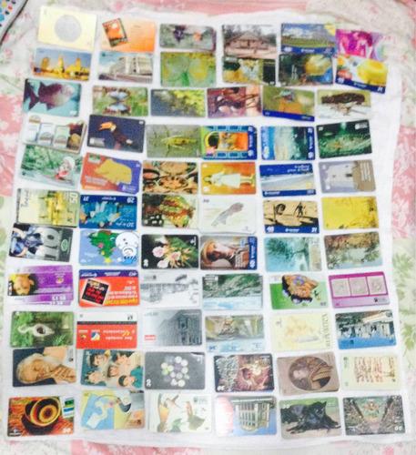 cartões telefônicos usados (valor negociável)