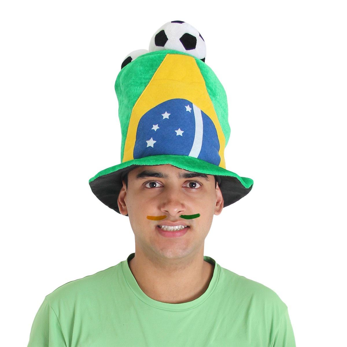 cartola brasil 3 bolas - copa do mundo. Carregando zoom. ee6a7ccb28c