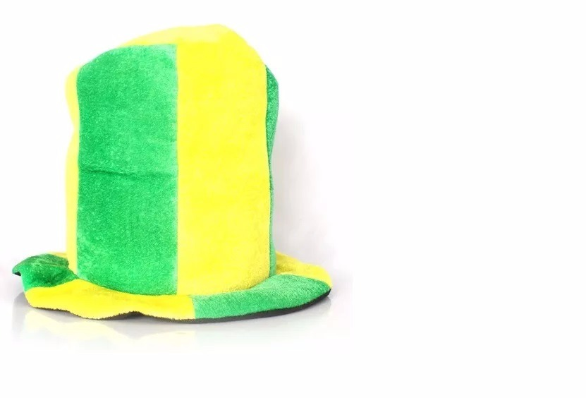 Cartola Chapéu Brasil Listrada Verde E Amarela - R  20 c9ada774293