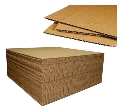 cartón corrugado lámina sencilla 4mm. 1.30x1.60mts. 10pzas.