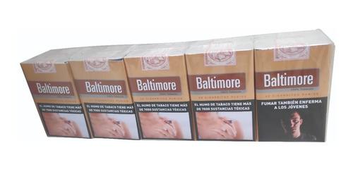cartón de 10 atados baltimore cigarros rubios pack x 20 u.