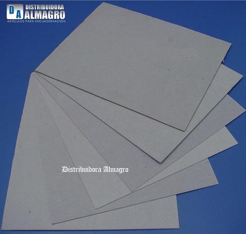 carton gris prensado 2.0 mm. cortado a5 - 21x14.5 paq.x10u