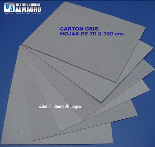 carton gris prensado 2.5 mm.2 hojas de 70x100cm.encuadernar