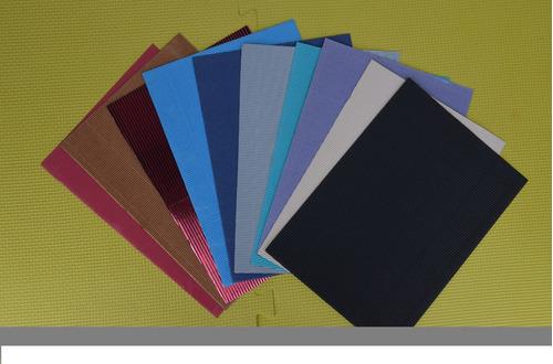 cartón microcorrugado a4 pack x10 unidades colores variados