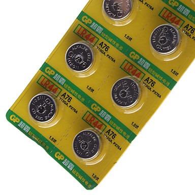 carton pila tipo boton lr44 gp 1.5v alcalina 24 mah x 10 uni