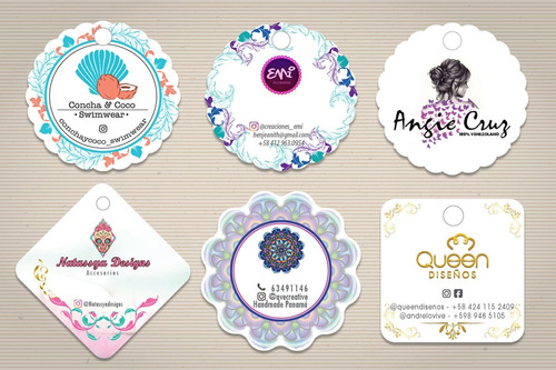 cartón zarcillos etiquetas personalizadas 20 unidades