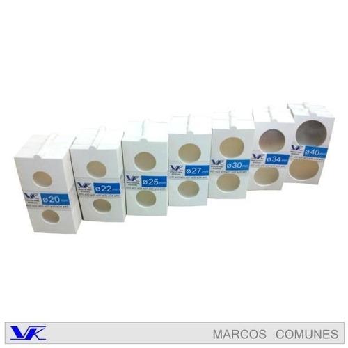 cartoncitos, marcos para monedas x 100 unidades  vk