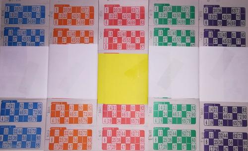 cartones bingo x 2016 x 8 series de loteria descartables