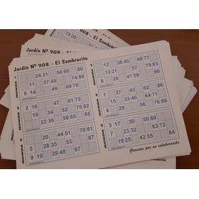 Cartones De Bingo Descartables (250 Personas)