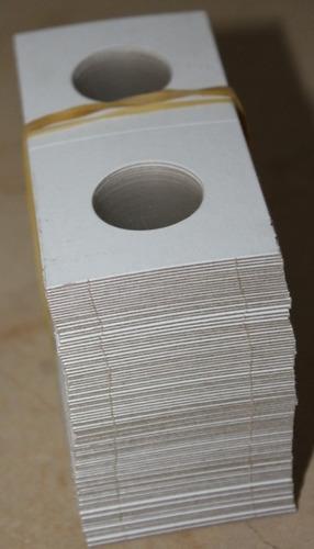 cartones p/ monedas tamaño cuarto de dolar, 100 protectores