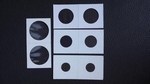 cartones para monedas ( 100 unidades ) 4 tamaños diferentes