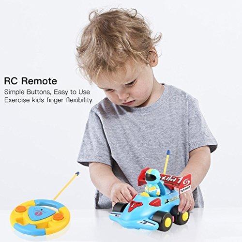 cartoon r / c formula race car radio control toy por liberty