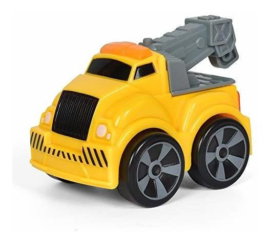 Christoy Cartoon Truck Pull Back Vehicles Car Toy Baby Inertia Light Sound for Child Boys and Girls Paly Set Toy 3PCS