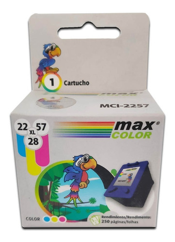 cartridge alternativo 22/28/57hp cyan/magent/yellow maxcolor