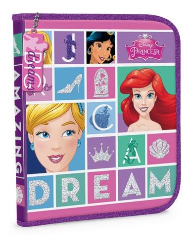 cartuchera 1 piso pvc disney princesas original mundo manias