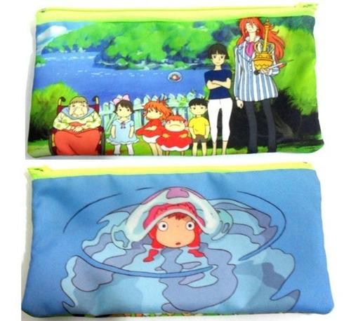 cartuchera de anime de ponyo miyazaki