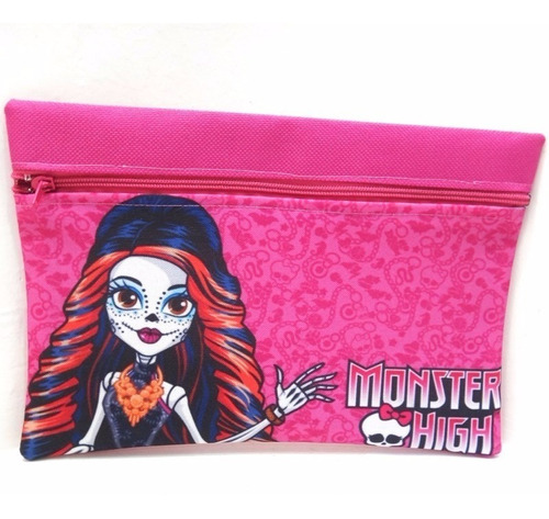cartuchera de monster high moda cotillón regalo escuela