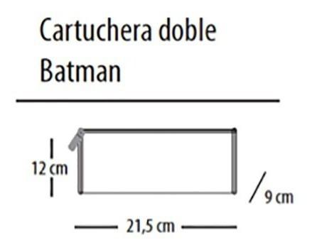 cartuchera escolar batman 2 cierres con 21, 5 cm x 7,5