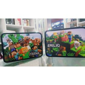 Cartuchera Minecraft 2 Pisos Personalizada Con Nombre